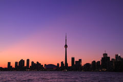 Toronto-Stadtbild während des Sonnenuntergangs Stockbild