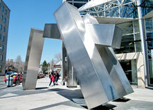 Toronto stainless steel sculpture Meeting Place 2010 Royalty Free Stock Photo