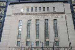 Toronto Stock Exchange Building Stock Image