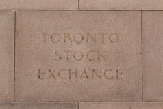 Toronto Stock Exchange Sign Royalty Free Stock Photo