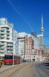 Toronto-Straßengleis (Streetcar) Stockfoto