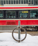 Toronto Streetcar and Bike Lock Stock Photo