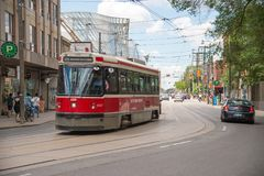 Toronto streetcar system is operated by Toronto Transit Commission TTC. royalty free stock photos
