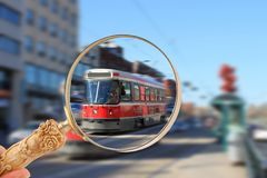Toronto streetcar transportation Royalty Free Stock Photo