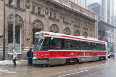 Toronto Streetcar in the Winter Royalty Free Stock Image