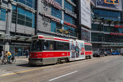 Toronto Streetcar at Yonge Dundas Square Stock Photo