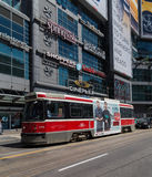 Toronto Streetcar at Yonge Dundas Square Royalty Free Stock Images