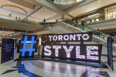 Toronto stylu świergot Hashtag Zdjęcia Royalty Free