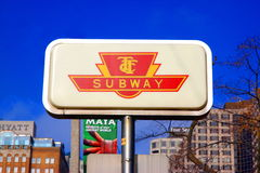 Toronto Subway Royalty Free Stock Photography