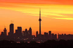 Toronto at sunrise royalty free stock photos