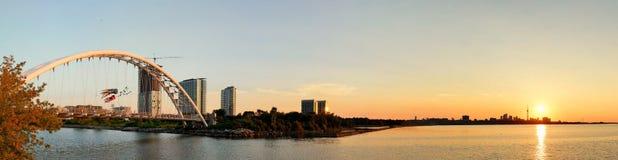 Toronto sunrise panorama royalty free stock photos
