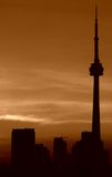 Toronto sunset,CN tower Royalty Free Stock Photo