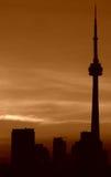 Toronto sunset,CN tower royalty free stock photo