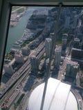 Toronto, tatto della torre del cn così potente fotografia stock