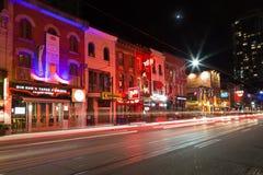 Toronto teaterområde Arkivbild