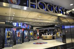 Toronto, 24th June: Brookfield Place interior from Toronto in Ontario Province Canada. Hockey Hall of Fame zone inside of Brookfield Place from Toronto in Stock Photography