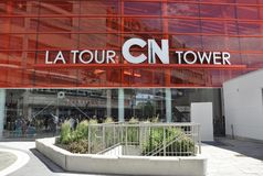 Toronto, 24th June: CN Tower entrance from Toronto in Ontario Province Canada. CN Tower entrance from Toronto in Ontario Province of Canada on 24th June 2017 Stock Photography
