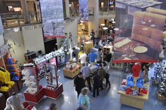 Toronto, 24th June: CN Tower interior Shop from Toronto in Ontario Province Canada. CN Tower interior Shop from Toronto in Ontario Province of Canada on 24th Royalty Free Stock Image