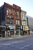 Toronto, 24th June: Downtown Yonge Street Historic buildings from Toronto of Ontario Province in Canada. Downtown Yonge Street Historic buildings from Toronto of Royalty Free Stock Images