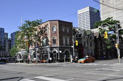 Toronto, 24th June: Downtown Yorkville district buildings from Toronto of Ontario Province in Canada. Downtown Yorkville district buildings from Toronto of Stock Images