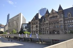 Toronto, 24th June: Nathan Phillips Square and Old City Hall from Toronto in Ontario Province Canada. Nathan Phillips Square and Old City Square from Toronto in Royalty Free Stock Photography