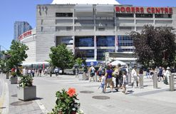 Toronto, 24th June: Rogers Centre Building from Toronto in Ontario Province Canada. Rogers Centre Building or Skydome from Toronto in Ontario Province of Canada Stock Image