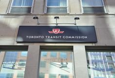 Toronto Transit Commission signboard Stock Photo