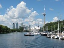 Toronto und See Ontario Lizenzfreie Stockfotos