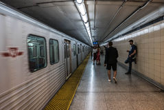 Toronto Underground Subway Station and Travelers Stock Photos