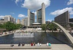 Toronto urzędu miasta kwadrat Zdjęcia Stock