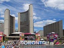 Toronto urzędu miasta kwadrat Zdjęcia Royalty Free