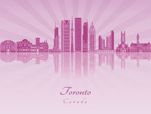 Toronto V2 skyline in purple radiant orchid Stock Photos