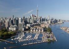 Toronto van de binnenstad dat van de Lucht wordt bekeken Royalty-vrije Stock Fotografie
