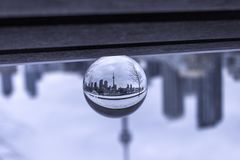 Toronto view through crystal ball stock photography