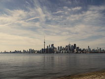 Toronto view from  Island. Toronto waterfront, view from Toronto Island, Canada Royalty Free Stock Photo