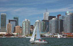 Toronto View from Lake Ontario Royalty Free Stock Image