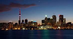 Toronto view at night Royalty Free Stock Photography