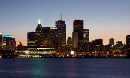 Toronto view at night Stock Photo