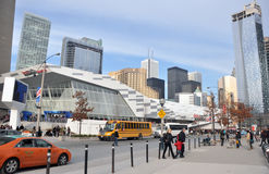 Toronto view. View on the streets of Toronto City, Ontario province, Canada. The photo was taken in November 2013 royalty free stock image