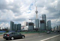 Toronto vom Gardiner Lizenzfreie Stockfotos