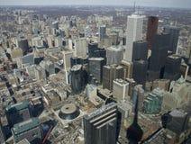 Toronto vom Kontrollturm Stockfotografie