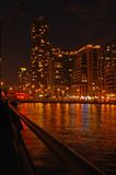 Toronto water front. In the night Royalty Free Stock Photography