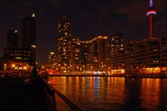 Toronto water front. In the night Stock Photo