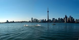 Toronto Waterfront CN Tower royalty free stock images