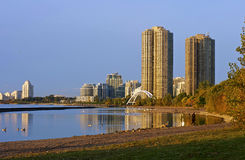 Toronto Waterfront - Lake Ontario Stock Photo