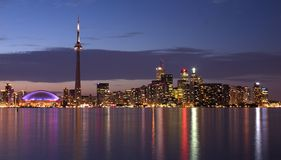 Toronto Waterfront panorama. Toronto waterfrong at dusk Stock Photo