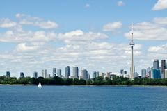 Toronto waterfront skyline and boat Stock Photo