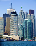 Toronto waterfront skyscrapers Stock Images