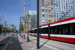 Toronto waterfront tram Royalty Free Stock Photo