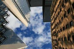 Toronto - wolkenkrabbers in de hemel Stock Afbeeldingen